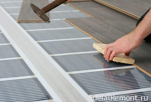 floor heating and laminate