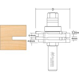 Bearing Guided Architrave Cutter