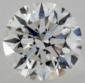 feather inclusion in 0.90 CARAT G-SI2 EXCELLENT CUT ROUND DIAMOND