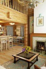 Интерьер в доме из бруса – дизайн деревянного коттеджа из клееного пиломатериала, имитация поверхностей под брус, русский стиль внутри помещений