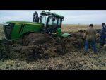 Тяжелые трактора – Трактора по бездорожью, Тяжелые трактора и сельхозтехника в грязи! смотреть онлайн