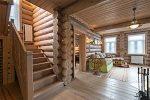 Дом из бревна интерьер – как оформить внутри жилище из бревна, дизайн бревенчатого оцилиндрованного коттеджа, создание обстановки в светлых тонах