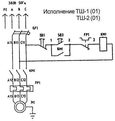 Схема электрическая шлифовального станка 264